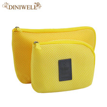 DINIWELL Travel Storage Bag Mesh Cloth For Digital Gadget Cable USB Cable Earphone Pen Cosmetic Bags
