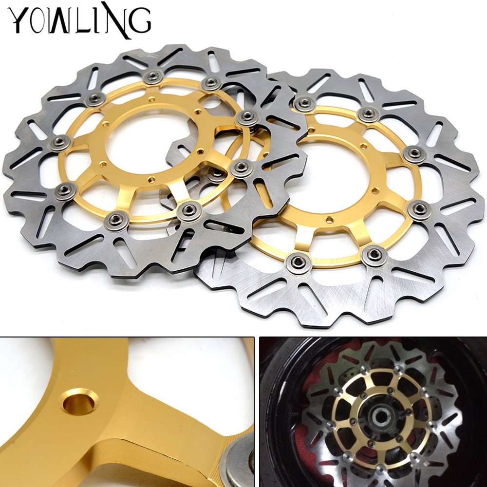 320mm High quality Motorcycle Front Floating Brake Disc Rotor For Honda CBR1000RR CBR 1000 RR 2006 2007 2008 2009 2010 2011 2012 one pair cnc high quality motorcycle front floating brake disc rotor for suzuki gsf1250 bandit abs non 2007 2008 2009 gsf1200 k6