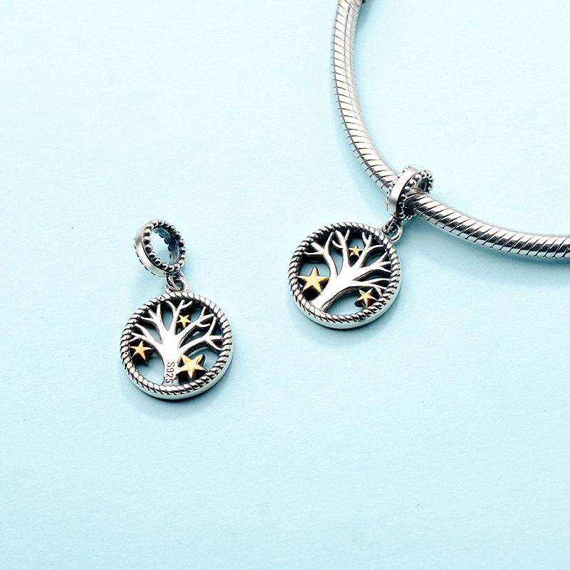 Strollgirl Authentic 925 sterling silver Tree of Life Charms Beads Fit Original Pandora Bracelet Women Fashion DIY Jewelry Gift