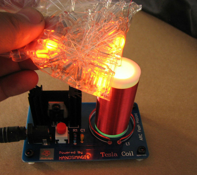 Mini tesla coil Tiny tesla coil Electric spark font b Science b font toy Physical experiment