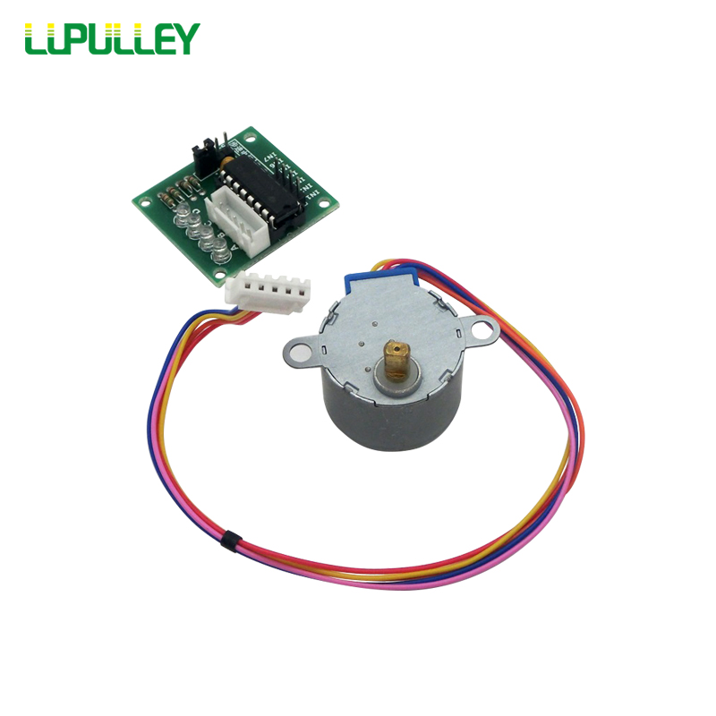 LUPULLEY 28BYJ-48 12V/5V Stepper Motor UNL2003 Driver Board Gear Step Motor Four-phase Five-wire CW/CCW for Arduino DIY Set 28byj 48 12v 4 phase 5 wire stepper motor 28byj48 12v gear stepper motor