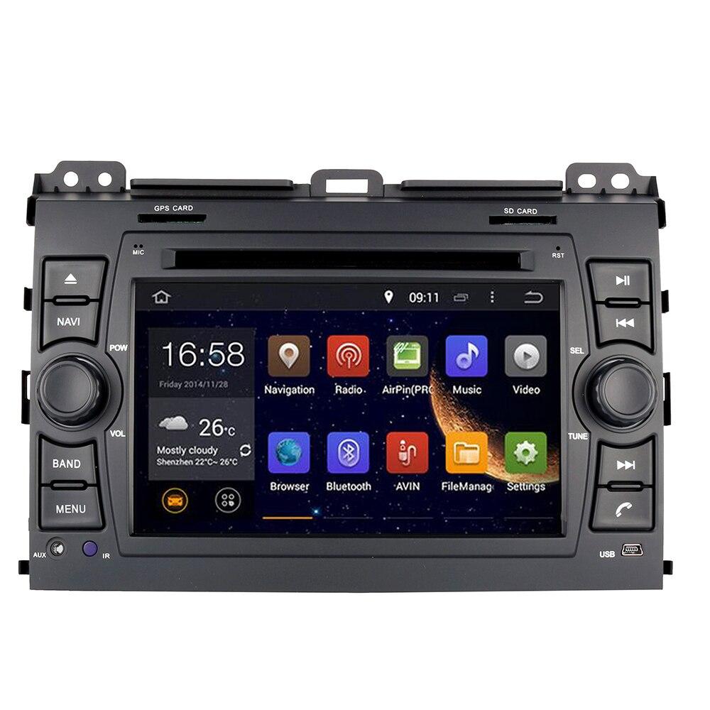 Android 9.0 lecteur DVD de Navigation GPS de voiture pour Toyota Land Cruiser Prado 120 2002-2009/Lexus GX470 Tesla Style 7
