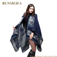 Fashion Long Women Scarves Winter Stole Pashmina Wool Cashmere Scarf Designer Tippet Geometric Super Warm Blanket