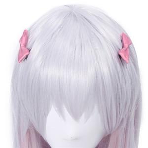 Image 4 - L email wig Eromanga Sensei Sagiri Izumi Cosplay Wigs Silver Mixed Pink Heat Resistant Synthetic Hair Perucas Cosplay Wig