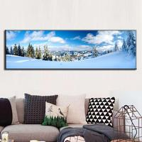 Large Picture The Snow Mountain Poster Winter Natural Landscape Canvas Painting Wall Art Picture for Home Decor Unframed