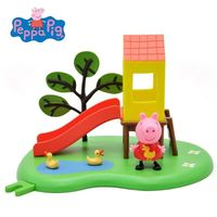 2018 Genuine PEPPA PIG Peppa Pig Outdoor Fun Swing / Slide Playset BRAND NEW kids Birthday toy gift free shipping