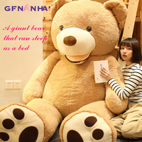 1pc Huge Size 260cm American Giant Bear Skin Teddy Bear Coat Good Quality Factary Price Soft Toys For Girls Popular Gift