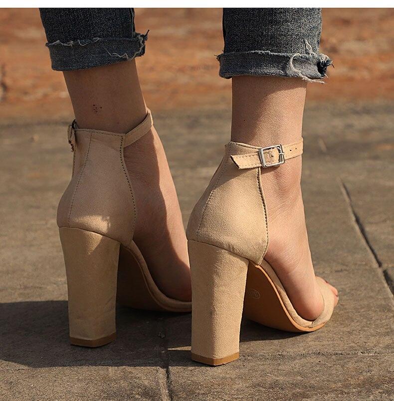HTB1jlh4bcrrK1RjSspaq6AREXXak Women Sandals Ankle Strap Summer Shoes Woman High Heels Sandals Plus Size 43 Chaussures Femme Open Toe Women Summer Sandals