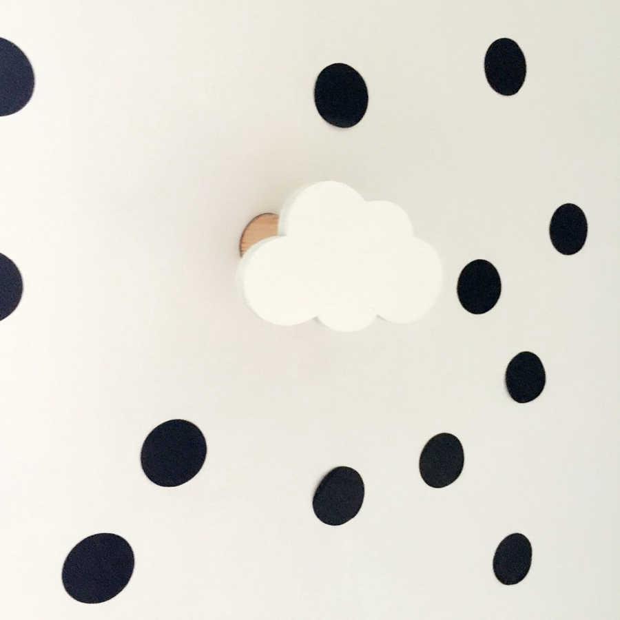 Nuevo diseño niños niñas habitación de niños nubes de madera almohada en la pared decorativa detrás de la puerta en la habitación de los niños gancho de suspensión