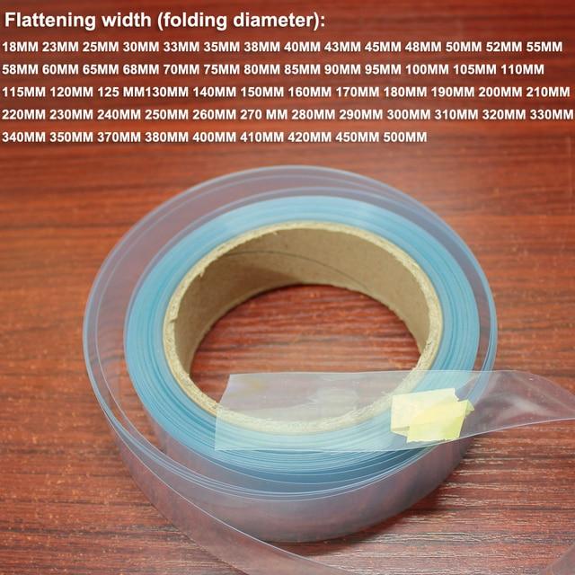 1 KG 100 มม.แบตเตอรี่ลิเธียมฟิล์มหด PVC พลาสติกความร้อน shrinkable แขนแบตเตอรี่ DIY แพคเกจผิวฉนวนกันความร้อนฟิล์ม