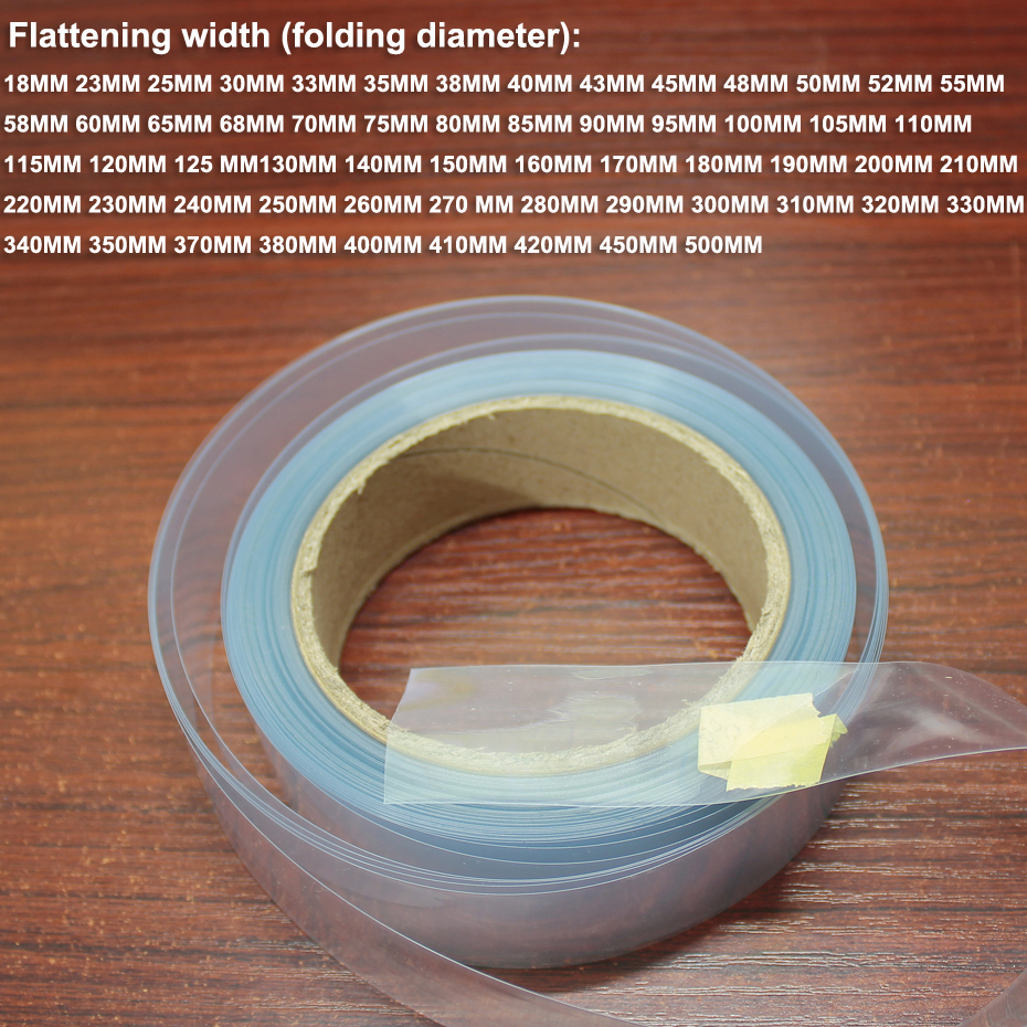 1kg 100MM wide lithium battery shrink film PVC plastic heat shrinkable sleeve battery DIY skin package insulation film-in Replacement Parts & Accessories from Consumer Electronics