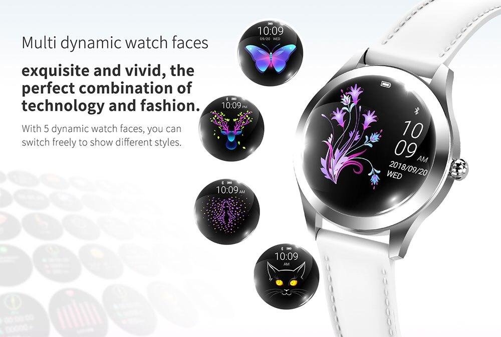 IP68 Waterdicht Smart Horloge Vrouwen Mooie Armband Hartslagmeter Slaap Monitoring Smartwatch Verbinding Ios Android KW10 Band 2
