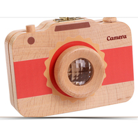 Wooden Camera Kids Baby Tooth Box Wooden Male and Female Newborn Souvenir Gift Child Tooth Preservation Collection Box