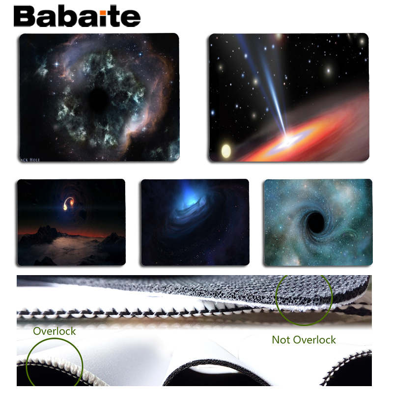 Babaite New Design Black hole Computer Gaming Mousemats Size for 18x22cm 25x29cm Rubber Mousemats