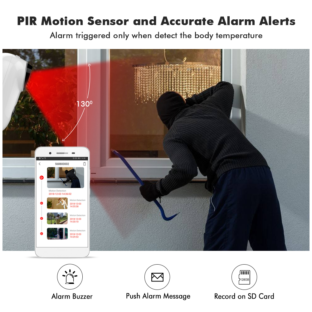 Image 4 - 1080P WIFI Battery Camera IP Outdoor Rechargeable Wireless IP Camera PIR Waterproof Motion Detect App View Hiseeu-in Surveillance Cameras from Security & Protection