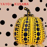Yayoi Kusama Pumpkin Japanese Artist Modern Sculpture Polka Dot Art home interior Decorations office arts wedding christmas
