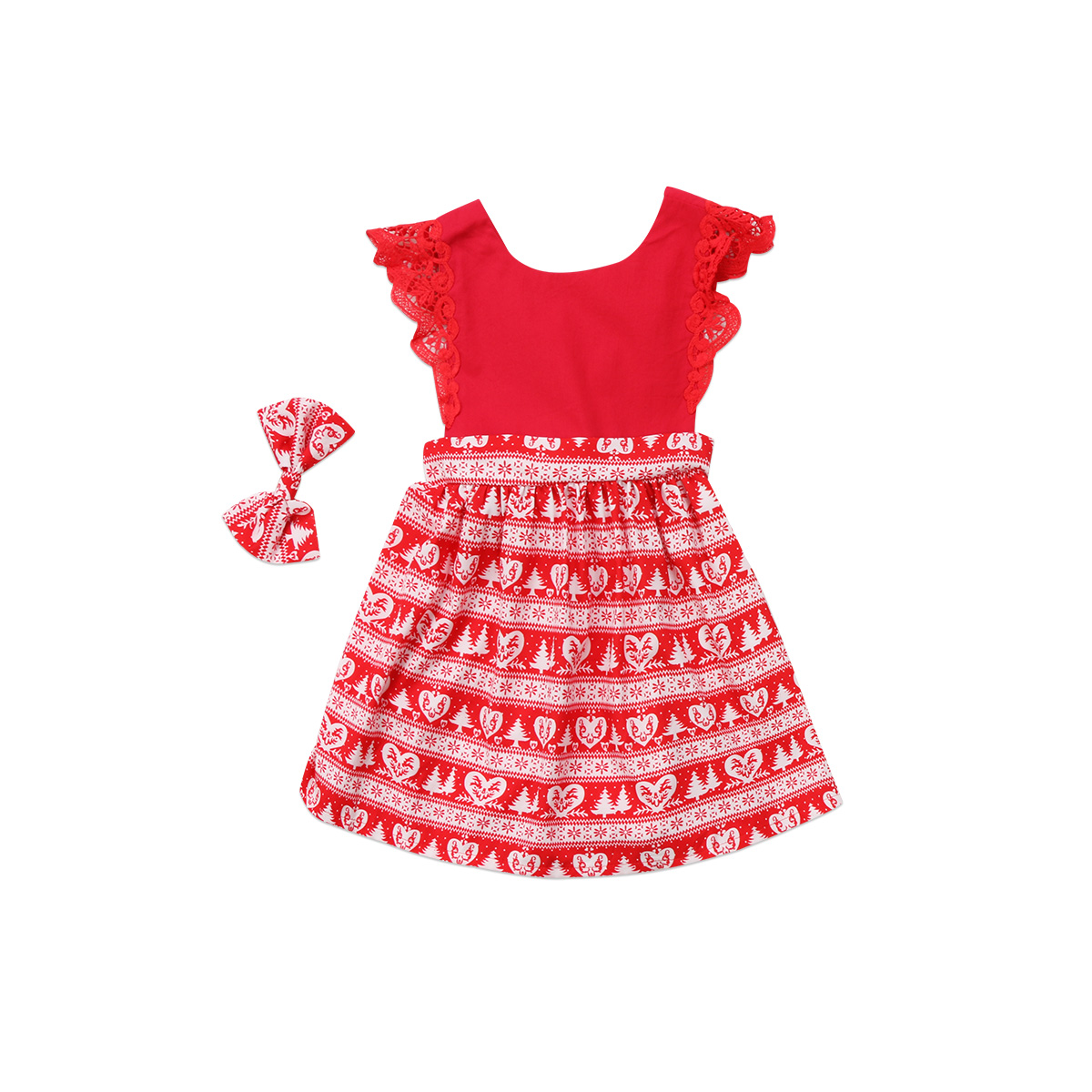 Girl Xmas Lace Sleeveless Cute Tutu Mini Dress Party Clothes Christmas Kids Baby Girls Toodler Kids Clothing Dresses neat christmas baby girl clothes girl dresses summer my little pony pretty lace children clothing tutu dress kids clothes lu8