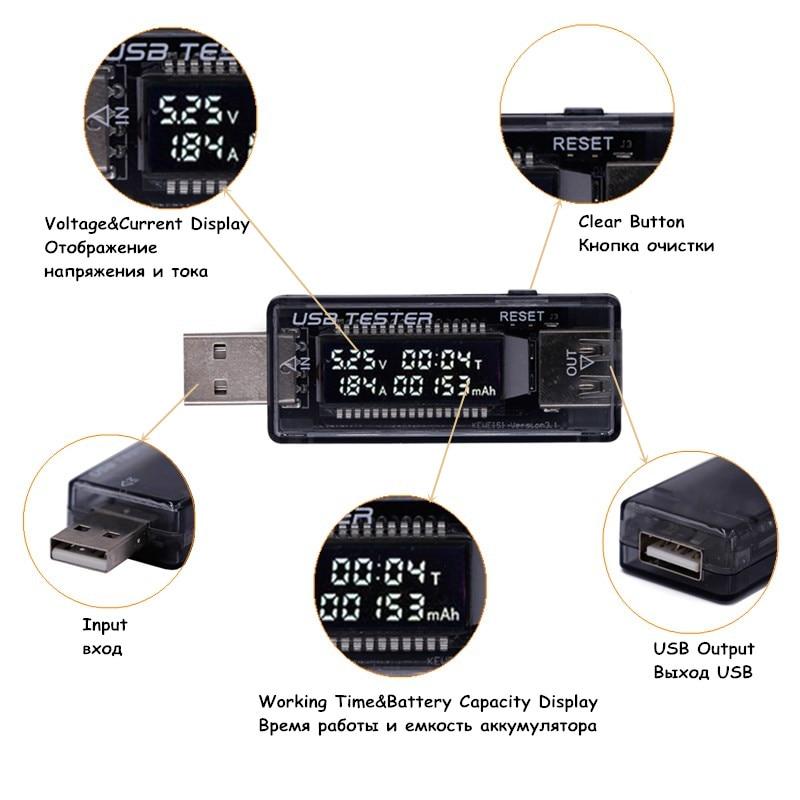 HOT LCD rilevatore USB voltmetro amperometro tester di capacità - Strumenti di misura - Fotografia 3
