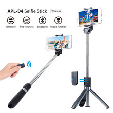 koabbit Selfie Stick Tripod With Bluetooth Remote Control for iPhone Tripod for Phone Gopro Sport Camera Light Monopod with Clip цена