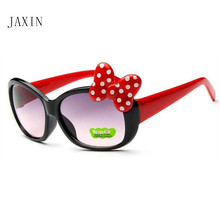 JAXIN New Bow Sunglasses Baby Cute Fashion Kids Protect Glasses Eyewear Child UV400 okulary gafas oculos
