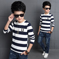 Children 's new Korean version of autumn children' s t - shirt autumn U - shaped striped bottoming shirt