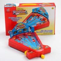 Candice guo plastic toy funny game ball tabletop shoot finger Baseball pinball sport children family desktop play baby gift 1set
