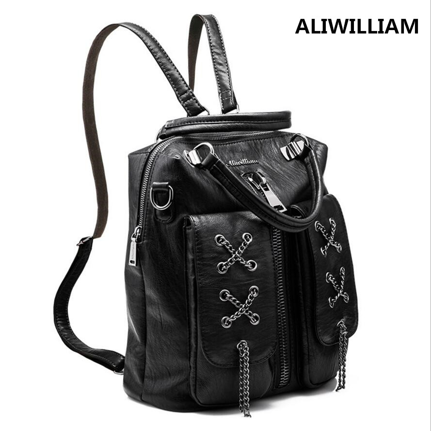 ALIWILLIAM New 2017 Fashion Shoulder Bag multi functional Female Package out The tide Backpack Female Travel