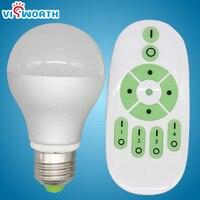 7 w 12 w bezprzewodowy światła zdalnego kontrolera Wifi doprowadziły ściemniania Żarówki E27 regulacja temperatury barwowej RF pilota doprowadziła lampa