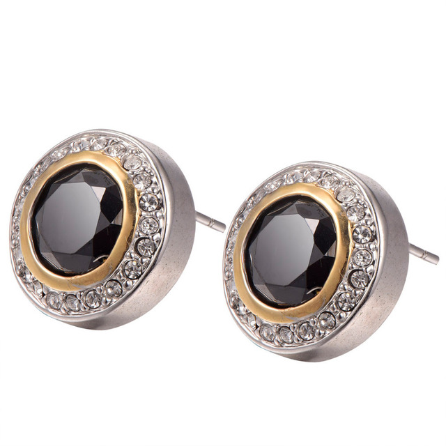Black onyx With Multi White Crystal Zircon Earrings 925 Sterling Silver Free Shipping Newest Fashion Jewelry Earrings TE630