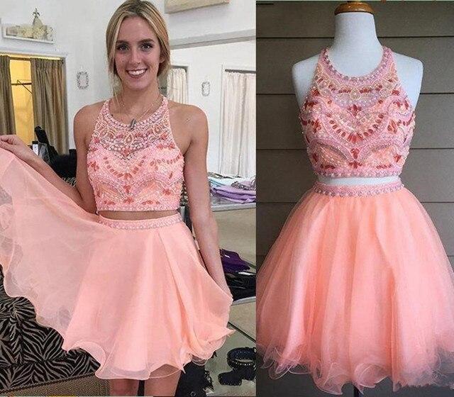 Rosa Lindo octavo Grado Vestidos de Baile 2016 Barato Verano de Tul ...
