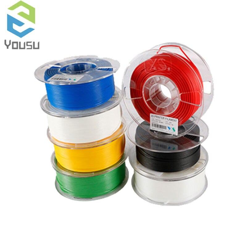 TPLA/PLA/CARBON/TABS/ABS Filament 1kg YOUSU Top Quality Brand 3D Printer Filament 1.75 Metal Plastic Filament Materials for RU