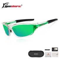 QUESHARK ultraligero anteojos de sol para pescar polarizados de las mujeres de los hombres deportes senderismo pesca gafas lente verde pesca gafas