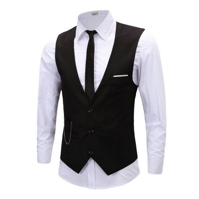 Brand New Men's Vest KingSize Waistcoat Male Fashion Jacket 4XL 5XL Pockets Formal Business Jacket Vest