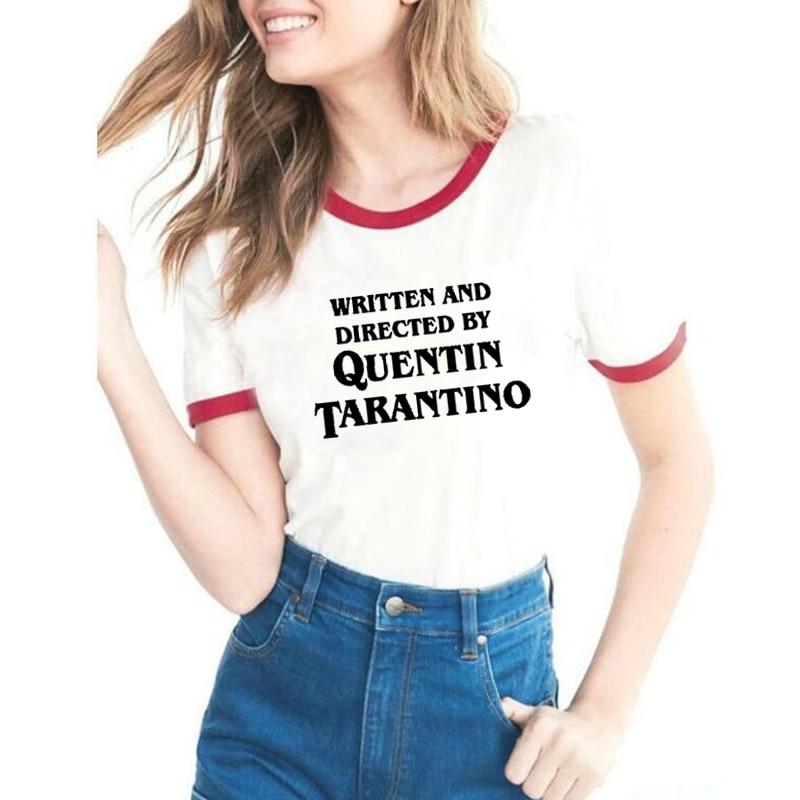 Quentin Tarantino T Shirt Women Summer Fashion Harajuku Tshirt Camisetas Mujer Causal Tops Short Sleeves Plus Size Ringer Tees