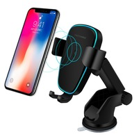 New Car Holder Qi Wireless Charger For iPhone X 8 Plus Samsung S8 Plus Phone Holder 10W Fast Wireless Car Charger Phone Holder
