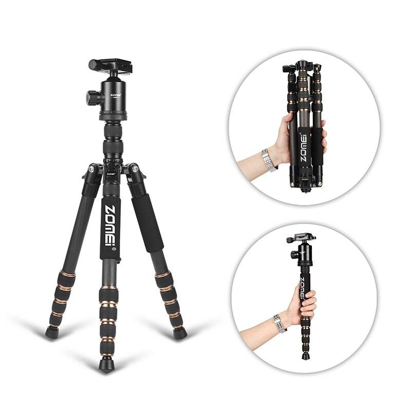 Zomei Z669C Kit trépied professionnel en Fiber de carbone pour voyage DSLR appareil photo monopode support Ballhead Compact Portable