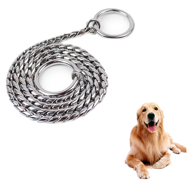 Gold Silver Black Durable Stainless Steel Pet Dog Chain Puppy Outdoor Super Lead Collar Party Wedding Decor Necklace
