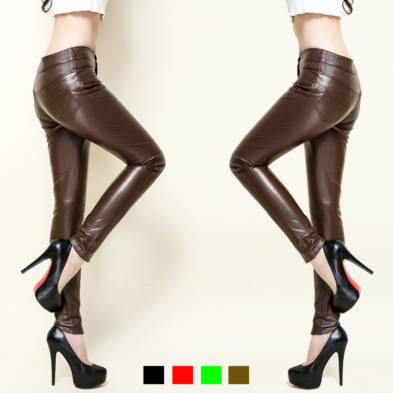 Genuine Leather Pants New Arrival Full Length Sheepskin Slim Solid Color Women Clothing Hot Sale Pencil