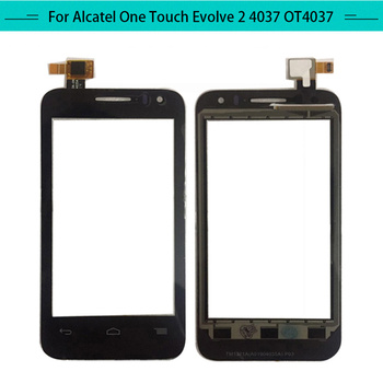 Tested 20pcs Touch Panel For Alcatel OneTouch Evolve2 OT-4037N Touch Screen Glass Digitizer Sensor Replacement