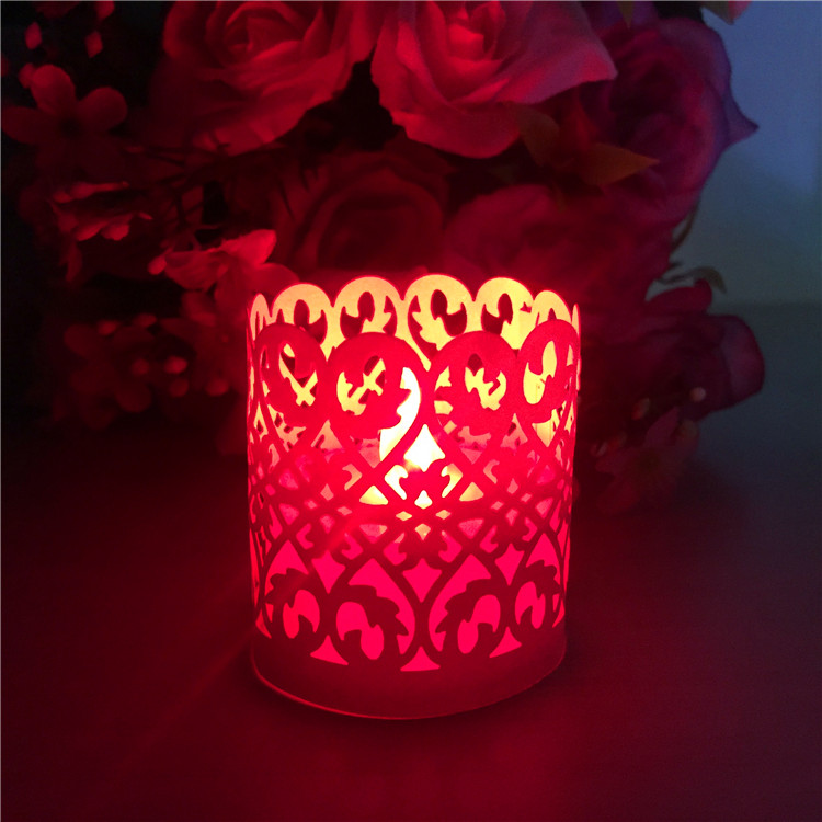 holiday decoration led tea litht candle tea light paper