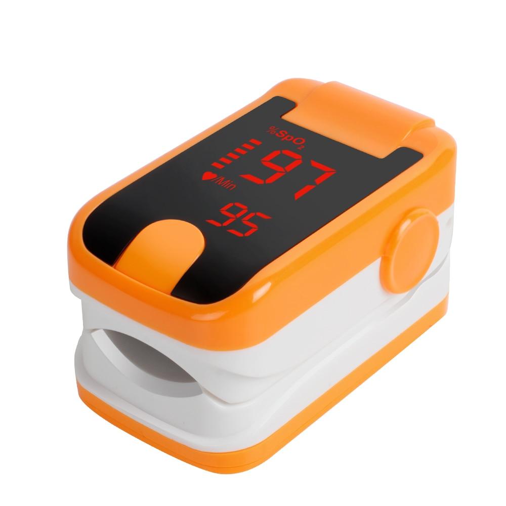 Lastest! Orange Free Ship Wholesale CE & FDA Health Monitors LED Fingertip Pulse Oximeter oximetro - SpO2 & Pulse rate pulse 420 orange