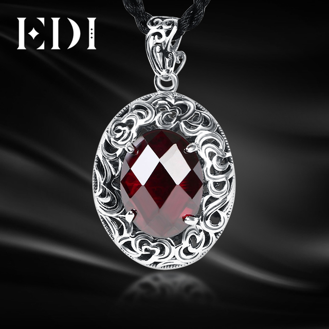 Edi prevent allergy sterling silver 925 garnet gemstone pendants edi prevent allergy sterling silver 925 garnet gemstone pendants featured design ruby chalcedony thai silver necklaces aloadofball Images