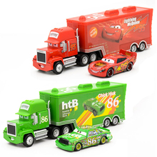 Disney Pixar Cars 2Pcs/Set McQueen Uncle Jimmy The King 1:55 Diecast Metal Alloy Model Toys Car Gift For Kid Boys