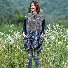 Mới Bat Tay Áo T-Shirt Nữ Ngắn Mùa Xuân Mùa Hè của Phụ Nữ Quốc Gia Gió Retro Tấm Đứng Cổ Áo Nút T-Shirt