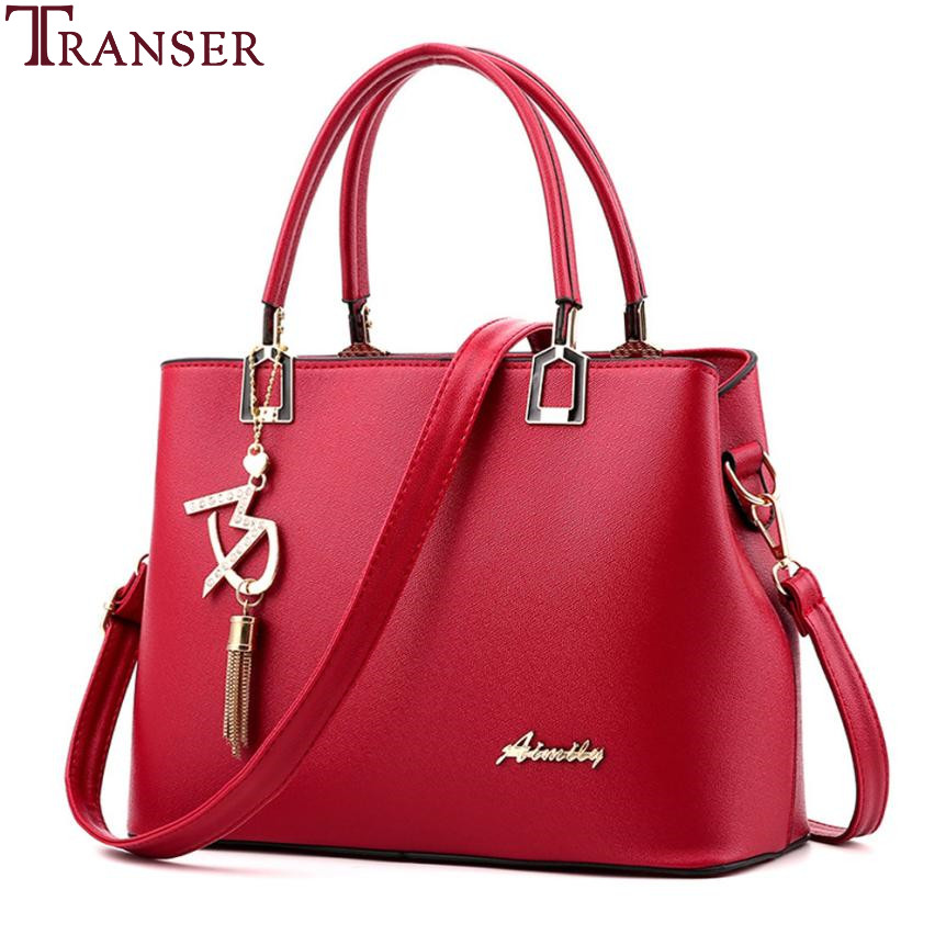Transer 2018 Fashion Brands Women Genuine Leather Crossbody Bag Shoulder Bag Messenger B ...