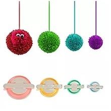 CAMMITEVER 4 Sizes Pompom Pom-pom Maker for Fluff Ball Weaver Craft DIY Wool Knitting Tool Set
