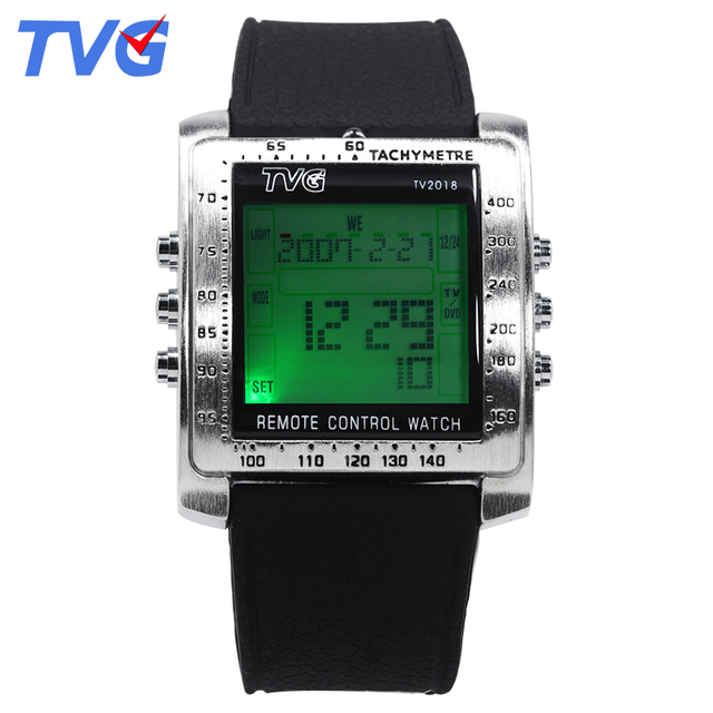 Classic TVG Brand  Remote Control Digital Sports watches TV DVD remote Men and Ladies WristWatches military Fashion style watch