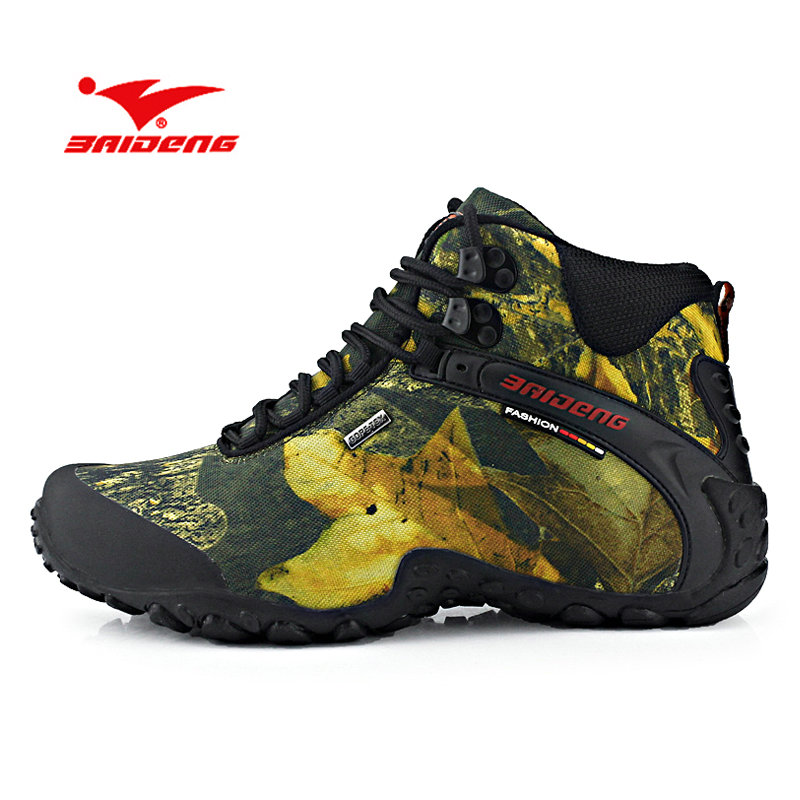 New Spring Autumn Outdoor Mountain Climbing Shoes Men Waterproof Hiking Shoes Velvet Warm Comfortable Hiking Boots Trekking Shoe 2016 autumn winter hiking shoes men mountain climbing boots big size 11 12 13 outdoor shoes men military shoe waterproof sneaker