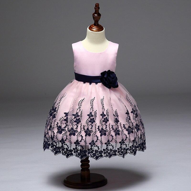 Бренд Детское платье для девочек детские детская повседневная одежда узор Свадебные платья 3 до для детей 12 лет цветок Платья для женщин Обу...