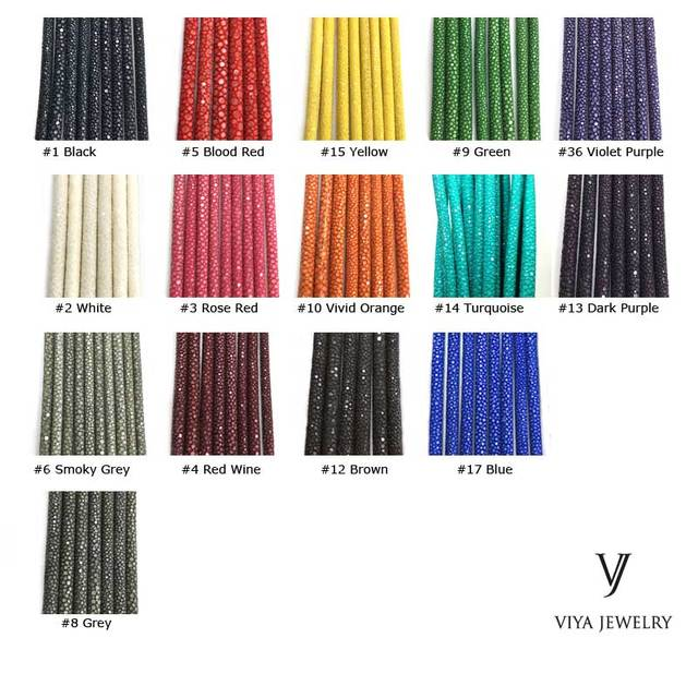 wholesale(100Pieecs/lot)Genuine Stingray Leather Rope For Jewelry Bracelet Available Diameter 4mm 5mm 6mm Real Stingray Cords